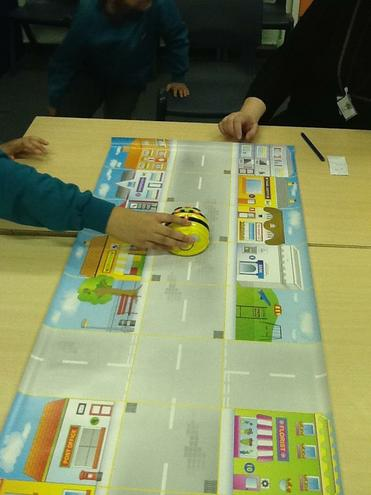 Using Bee-bots around a map