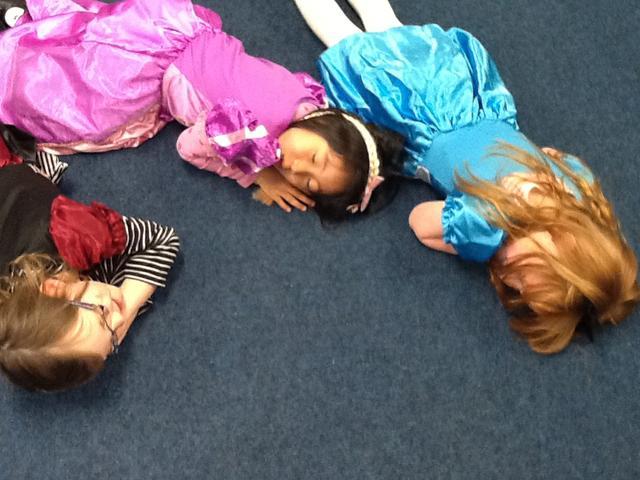 The princesses were sleeping