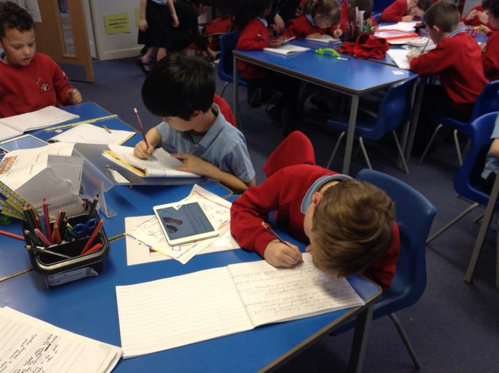 We used the ipads to find information