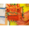 Nursery children created a Chinese dragon.