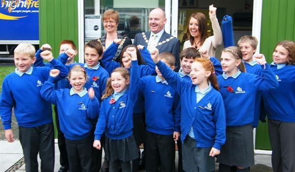 School Council with the Mayor & Mayoress of Sefton