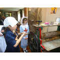 We learnt how to wash the bandages.