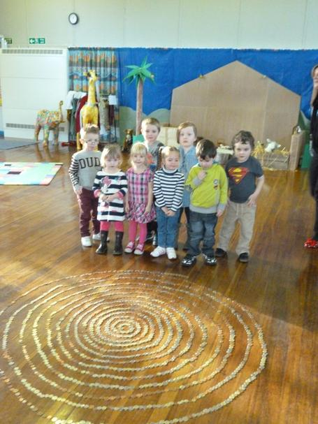 We were very proud of our coin spiral