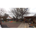 The Reception outdoor area supports learning in all areas of the EYFS curriculum.