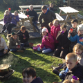 enjoying our Stone Age Stew!