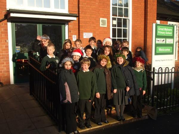 Carol Singing for local elderly residents.