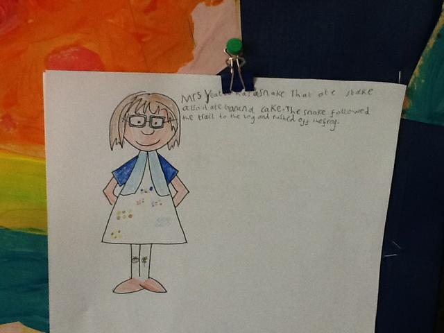 Writing about Mrs Yeates!
