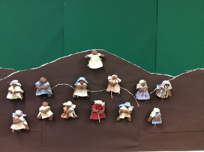 We made Jesus and his disciples!