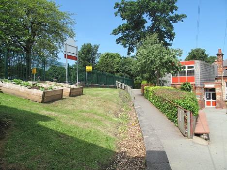 School infant playground entrance.