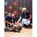 A special guest meets our Giant Tortoise.