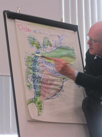 He drew us a Chole Roll.
