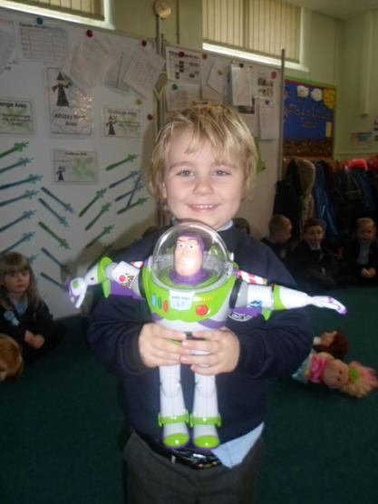 Buzz Lightyear came to school