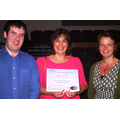 Mrs Fox receives her Young Carers Winners Award