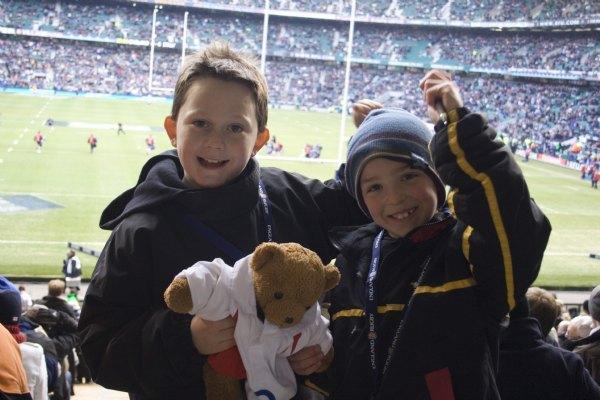 Anton enjoys the Rugby!