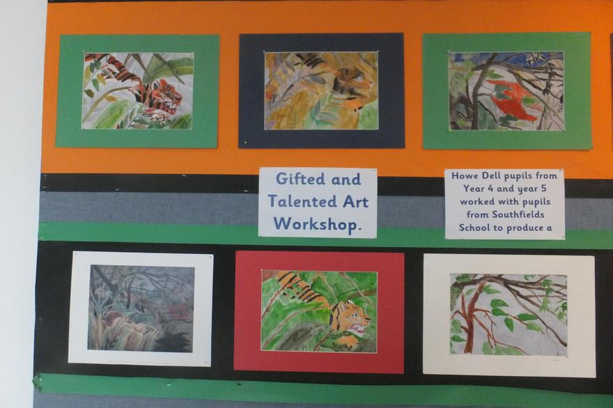 Gifted & Talented Art with schools, hosted by us