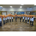Reception did a Dragon Dance.