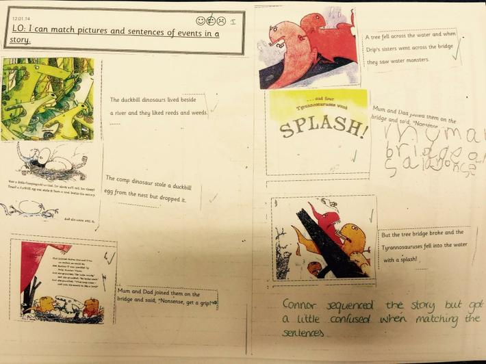 First we sequenced the story