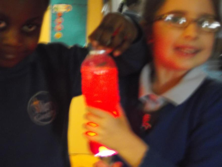 Wow!  Look at how well our lava lamp works!!