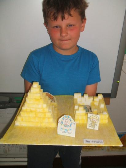 My sugar cube pyramid.