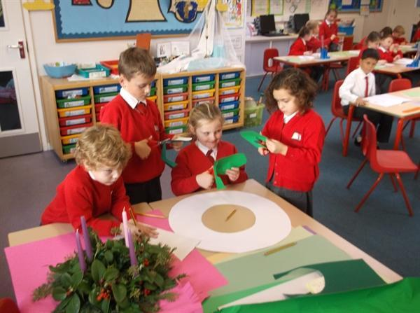 We are making our own Advent Wreath