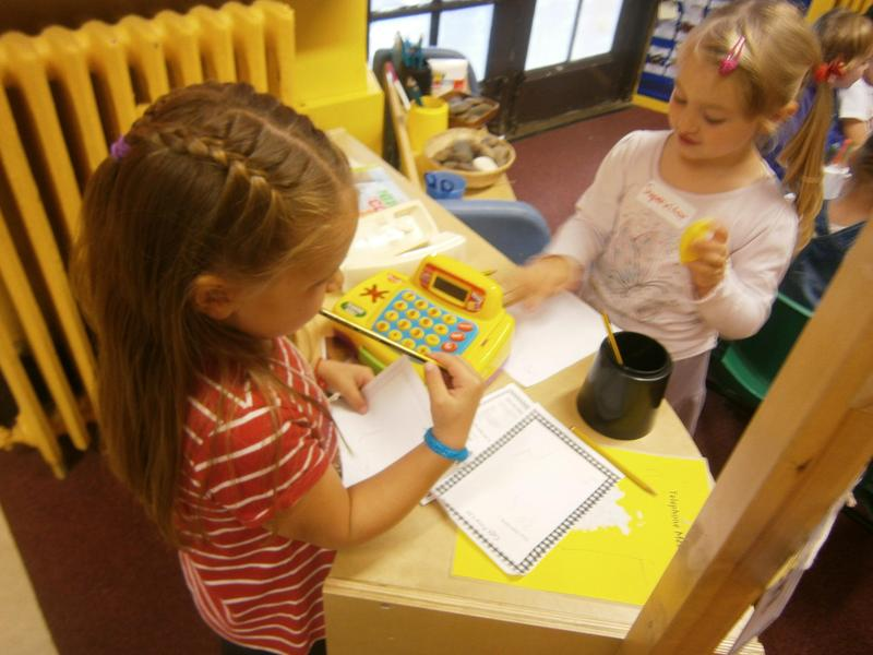 Role play area- writing orders and using money