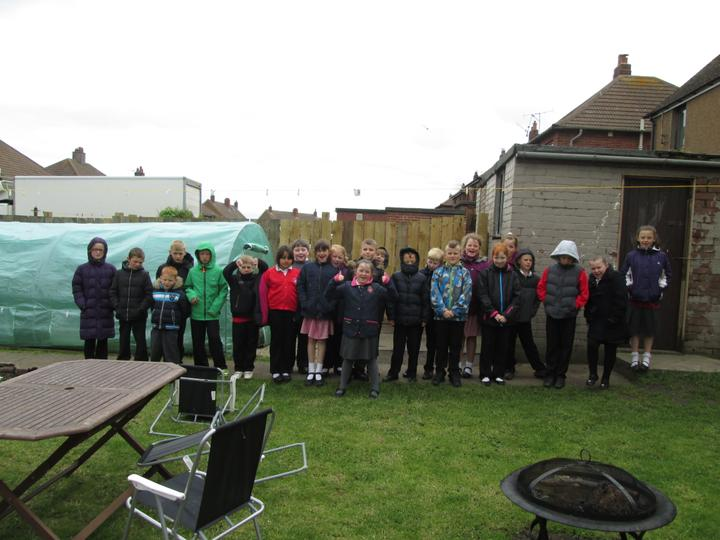 After our 'Roots and Shoots' project one of our year 4 mums decided to carry this on at home; getting her own polytunnel.
