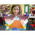 Madi with her fabulous Puppet theatre.