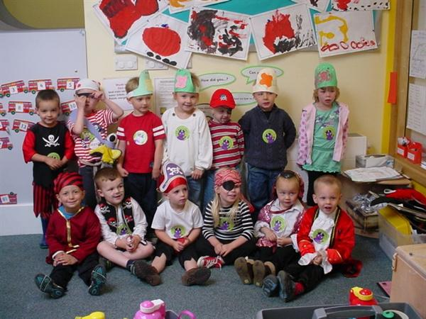 We enjoyed dressing up and played being pirates
