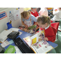Reading in the Doctors role play area