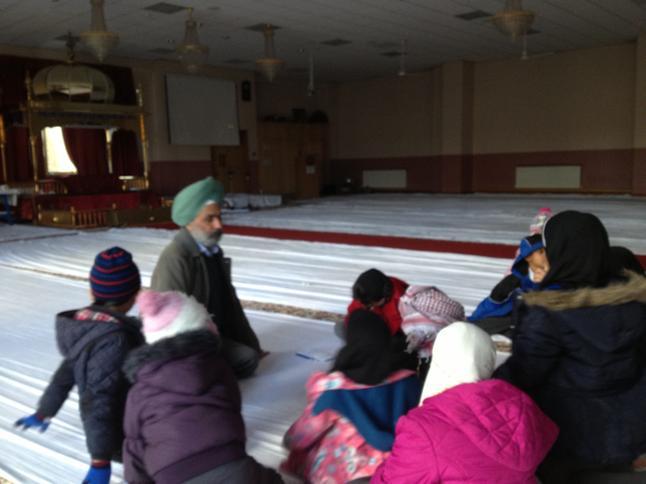 The children listening carefully!