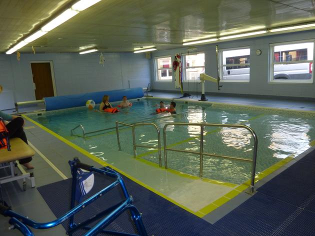 The hydrotherapy pool