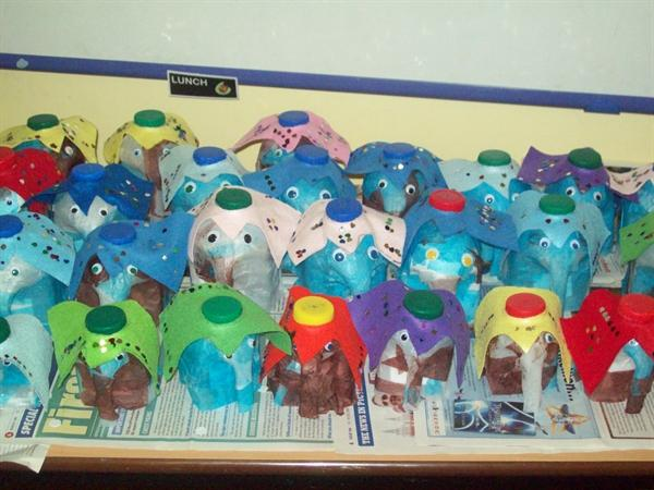 Making elephants for Black History Month