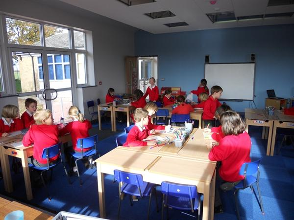 The first day in our fabulous new classroom!