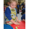 We learnt to chop the vegetables!