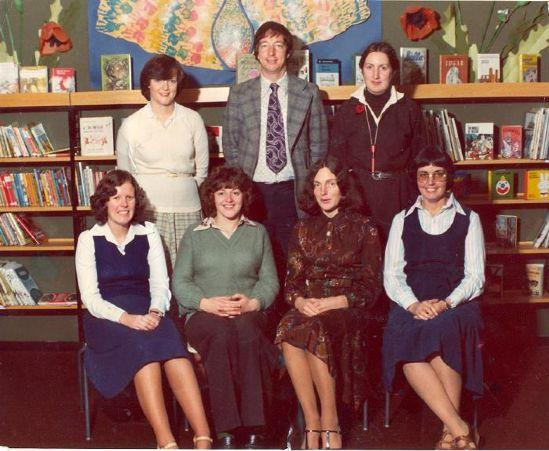 Staff photo from the early years of the school