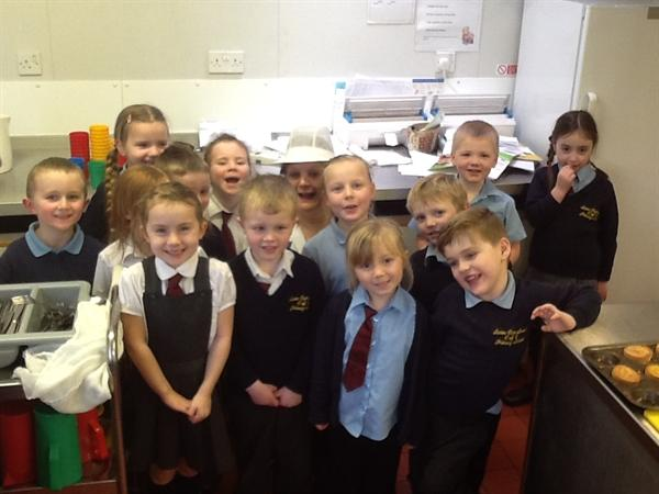 We visited Mrs Goodman in the kitchen