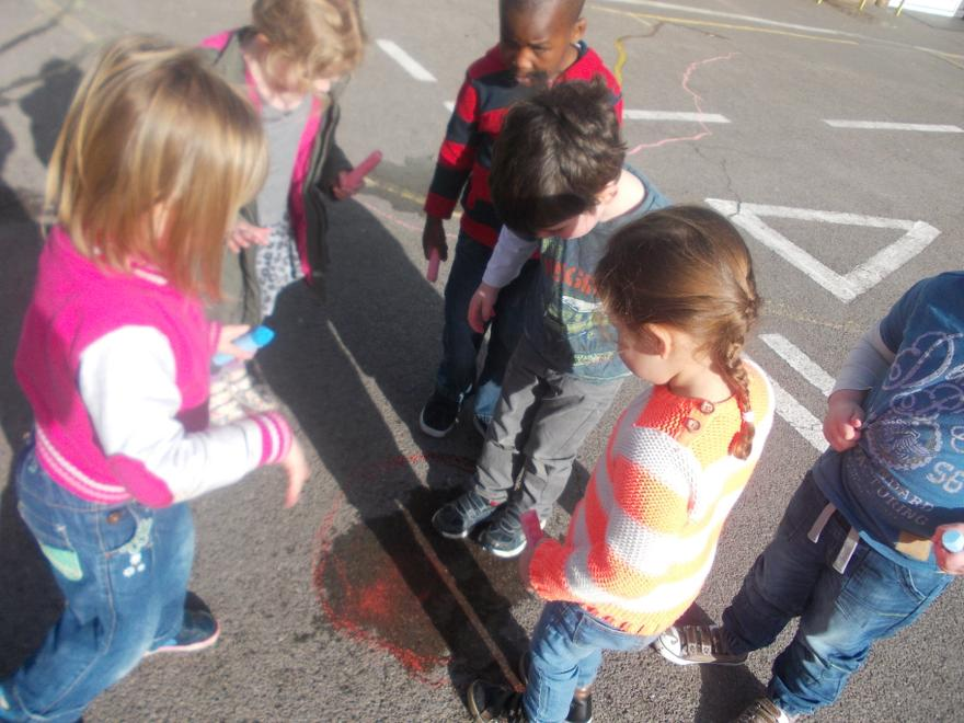 We measured the puddles.