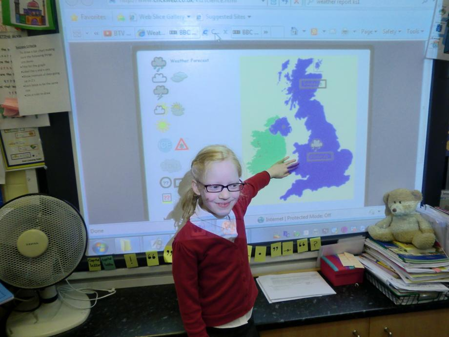 We looked at different weather across the UK.