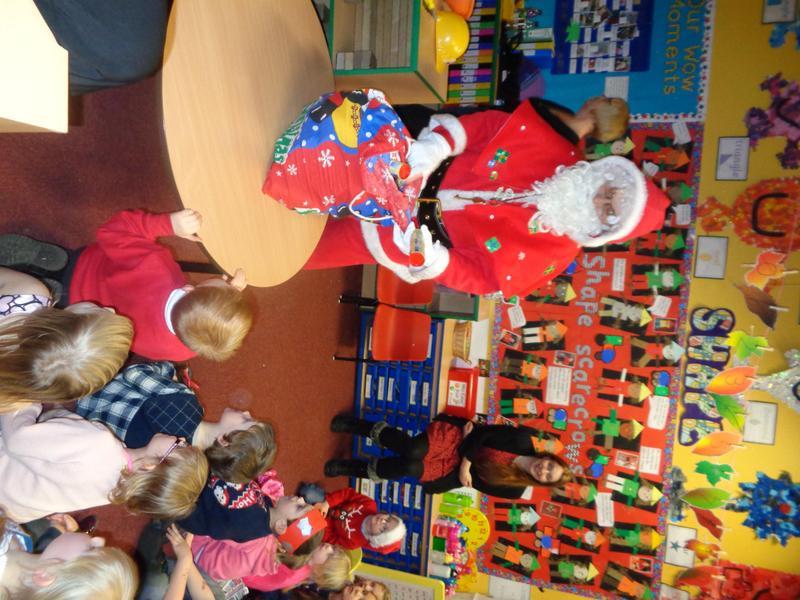 Santa came to see us!