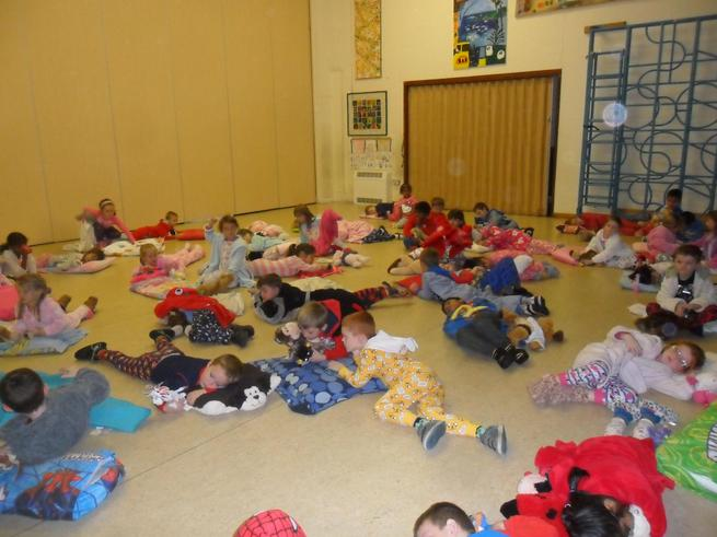 We had great fun at our sleepover!