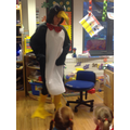 Pipkin the penguin came to visit