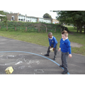 We have been doing maths outside.