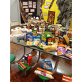 The generous harvest food bank donations!