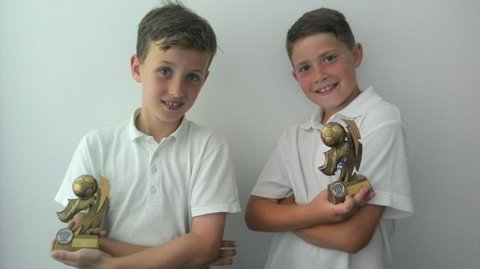 Evan and Lewis - U9 Winners with Crofton Saint!