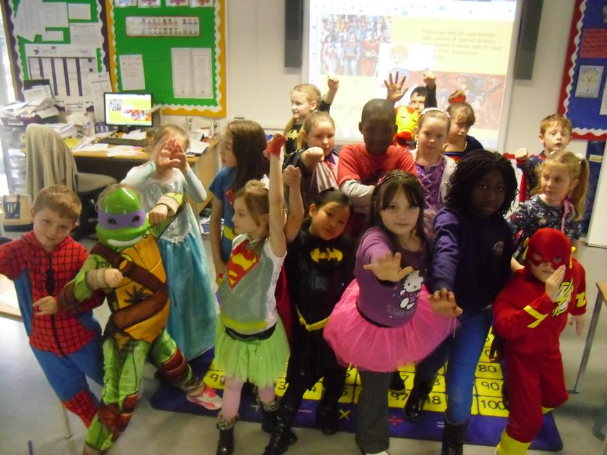 The Jumping Jellybeans as Superheroes!