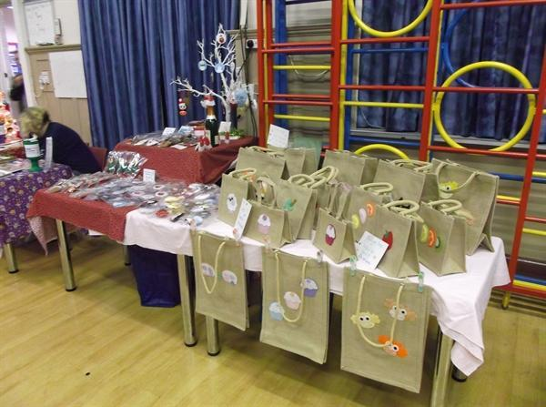 setting up for our Christmas market