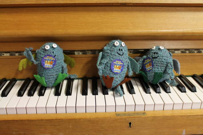 Bog Baby playing the piano!