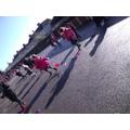 Whole school kite flying