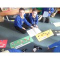 Using non-fiction books to create a timeline.