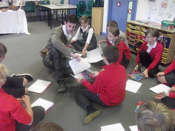 Miss Hosmer's Class reading Tudor Maps